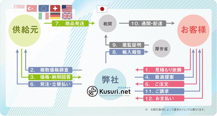 医薬品輸入の流れ